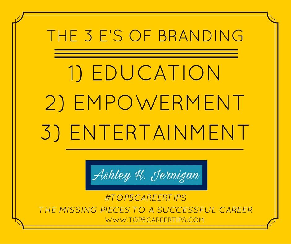 The 3 E's of Branding